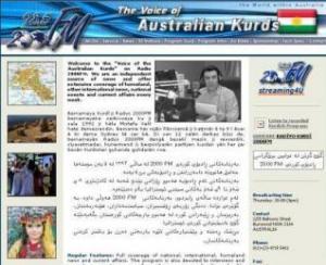 الصفحة الرئيسية لموقع راديو كرد استراليا