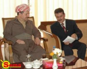 لقاء مدير مؤسسة سما مع الرئيس مسعود البارزاني - من الارشيف