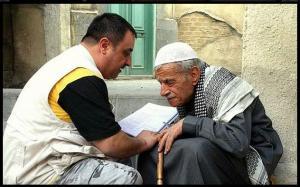 أدهم الملا مع ابنه مؤمن الملا اثناء مسلسل باب الحارة